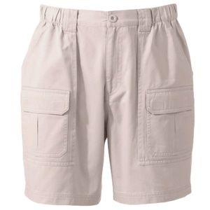 Croft & Barrow Side Elastic Cargo Shorts Cotton 32